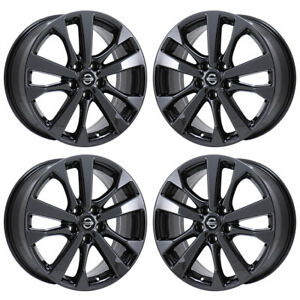 Details About 18 Fits Nissan Altima Sr Black Chrome Wheels Rims Factory 2017 2018 Set 4 62720