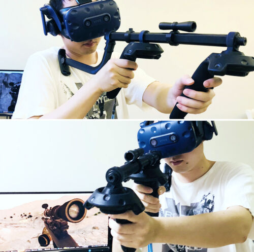 Move Controller VR Headset Game Shooting Gun Double Handle For HTC Vive Pro