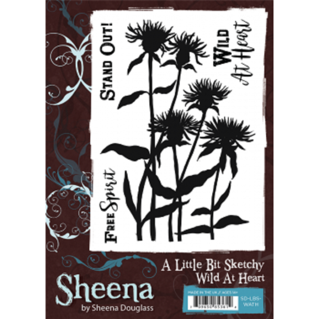 Sheena Douglass A Little Bit Sketchy A6 Unmounted Rubber Stamp Wild At Heart