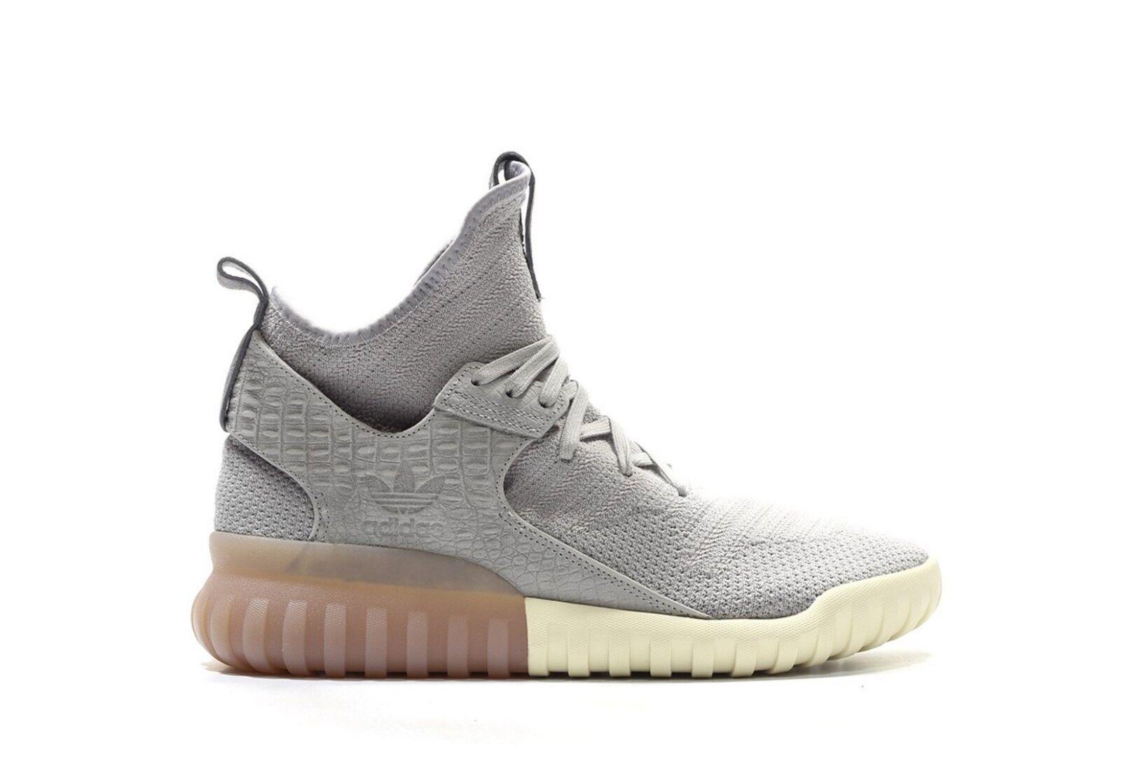 New! 12 Adidas Originals Tubular X Primeknit Shoes Gray White Gum Brown S74931