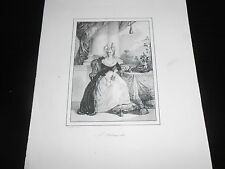 1830 BEAUTIFUL LITHO MARIE ANTOINETTE  Archduchess of Austria
