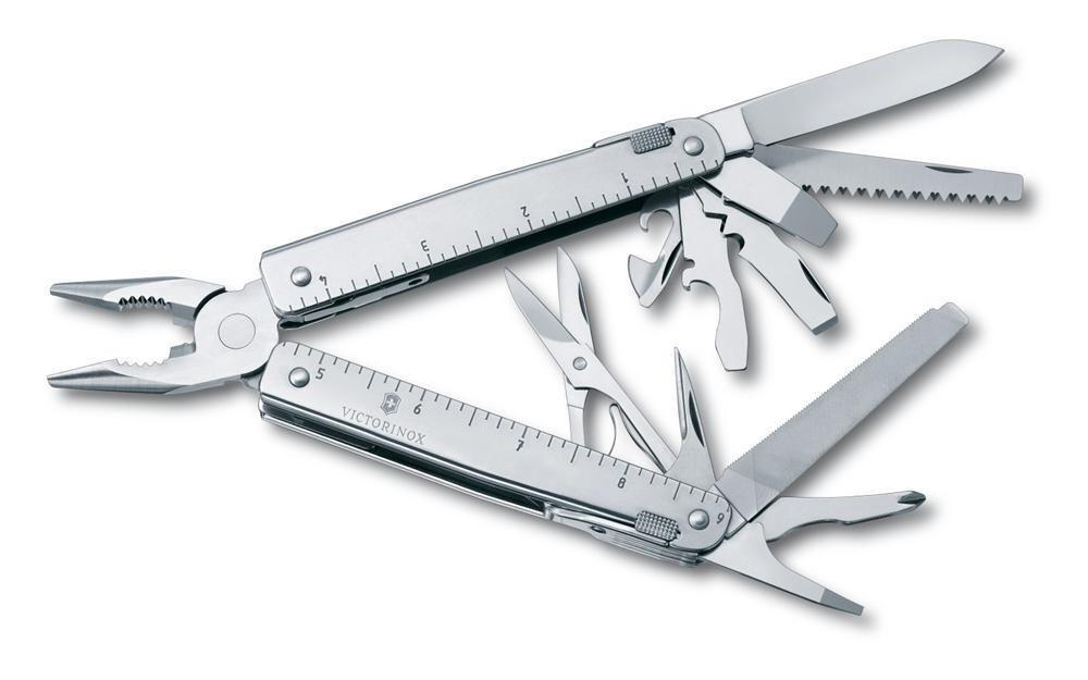 Victorinox Swiss Army Knife, Swisstool X, Negro Con Bolsa 53936, Nuevo En Caja