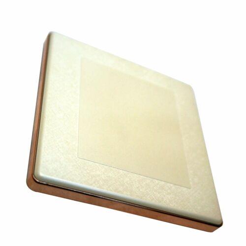 1//2//3 Gang mur Interrupteur De Lumière Vis moins or brossé//Texturé Crème//finition blanche