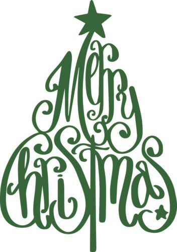 Window Wall Vehicle Display Merry Christmas Tree Sign Decal Vinyl Sticker 001