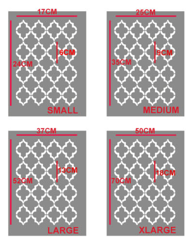 Marokkanische Glitzerndes Muster Schablone Vierpass Wohndeko Gemälde Ideal