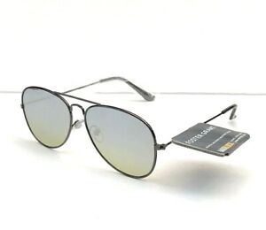 Foster Grant SUNGLASSES  METAL SILVER PILOT//Aviator Mirror lenses NEW!