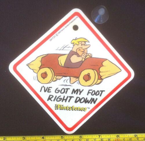 Lead Free /& Sucker The Flintstones Car Sign Ive Got My Foot Right Down