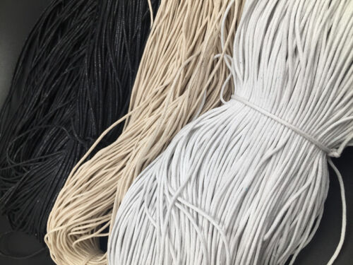 5M Waxed Cotton Cord Beading Rattail Braided Jewellery Making String Thread 3mm