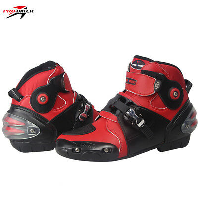 Motorbike Short Ankle Boots  Motorcycle Racing Sports Touring Shoes Armoured
