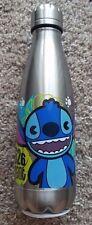 Brand New Disney Parks Stitch Water Bottle Metallic Finish 626 experiment