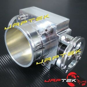 NEW-80mm-Universal-Throttle-Body-amp-Plenum-Flange-For-Nissan-Skyline-RB25-R33-R34
