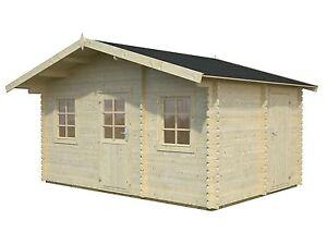 34 mm gartenhaus 447x330 cm havel fussboden 3 r ume ger tehaus holzhaus ebay. Black Bedroom Furniture Sets. Home Design Ideas
