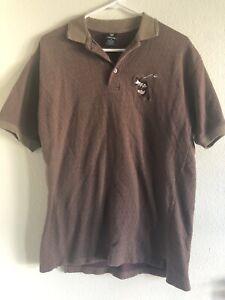 Vintage-90s-Warner-Brothers-Mens-Golf-Polo-Shirt-Tasmanian-Devil-size-Medium-taz