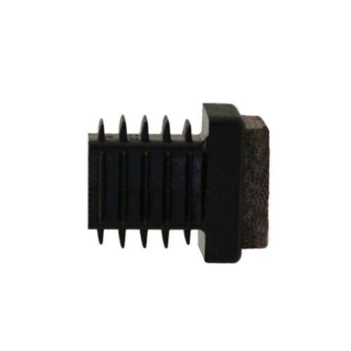 Lamellengleiter 20 x 20mm Filz Gleitfläche braun Kunststoff schwarz Möbelgleiter