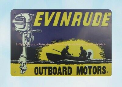Evinrude Outboard Motor Boat Metal Tin Sign Office Design Ideas Ebay