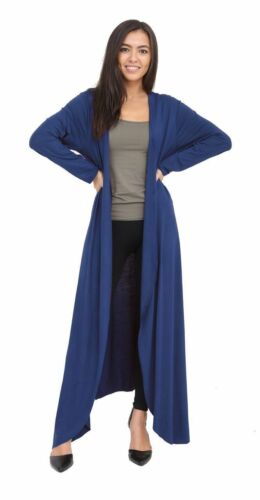 New Ladies Long Maxi Floaty Open Front Boyfriend Cardigan Tops Long Sleeve Coats
