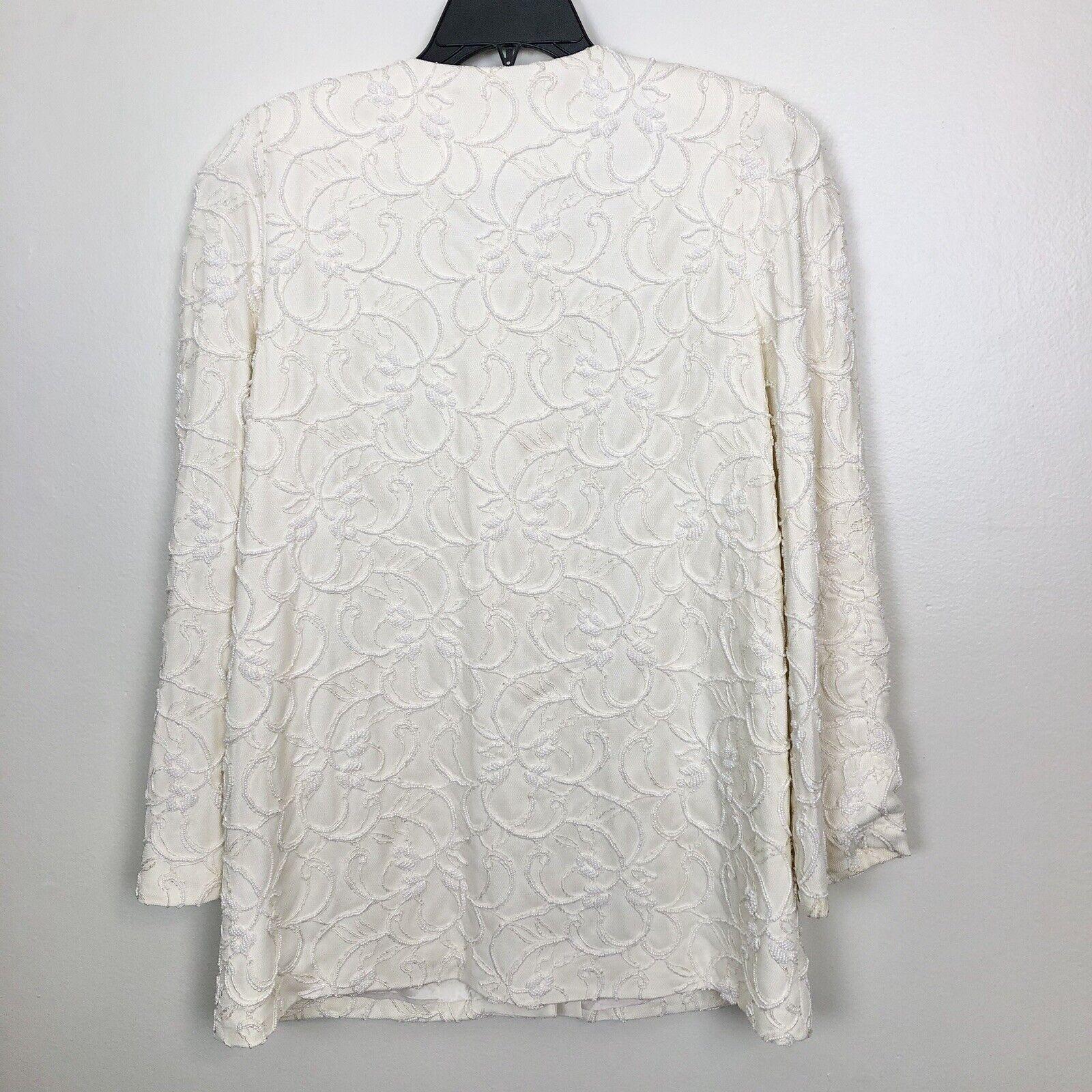 Marie St Claire Long Jacket Vintage Sz 12 Pearl B… - image 3