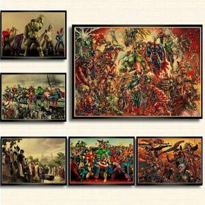 18x-Marvel-Superhelden-Stan-Lee-Bild-Poster-Film-Superhero-selten-sammeln-Deko
