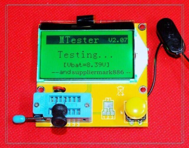Mega328 Transistor Tester Diode Triode Capacitance ESR Meter MOS PNP/NPN L/C/R 9