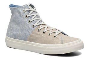 VANS Sk8 Hi Decon SPT (Stripes) Washed Moonstruck Skate Shoes ... 6d1dcec24