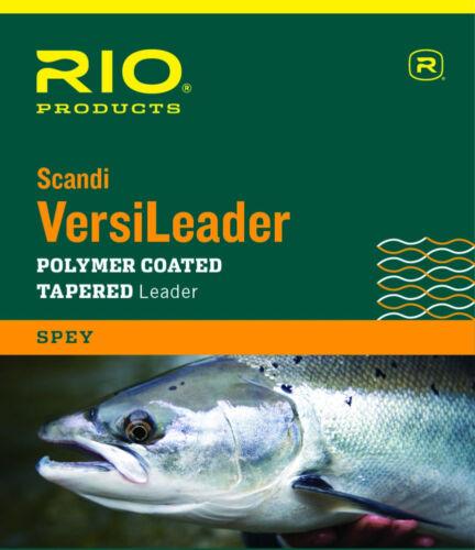 1.5 IPS 12 LB environ 3.66 m environ 5.44 kg Rio Spey Versileader Polymer Coated conique leader 12 ft