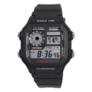 Casio-Men-039-s-AE1200WH-1A-Black-Analog-Digital-Multi-Function-Watch