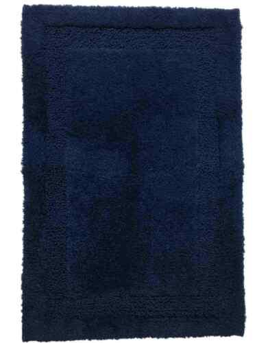 Chaps Richmond Navy Blue Plush Pile Throw Rug 19x34 Skid Resistant Bath Mat