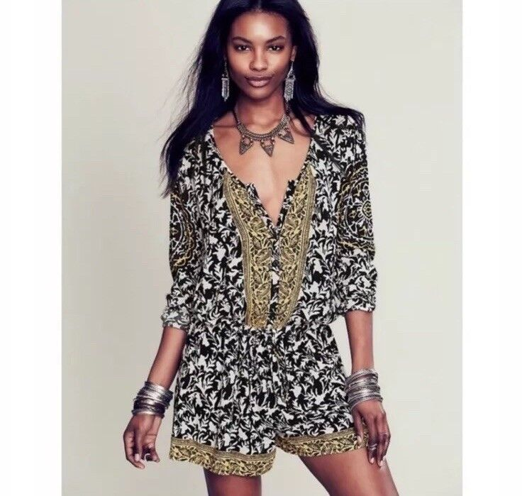Free People Resort Boho Romper XS Retails  128