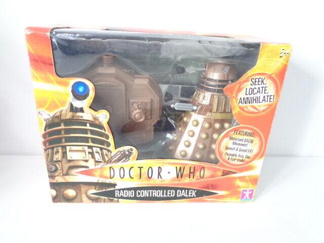 Doctor Who Radio Controllato bronzo DALEK 5 pollici 2004Nuovo in Scatola