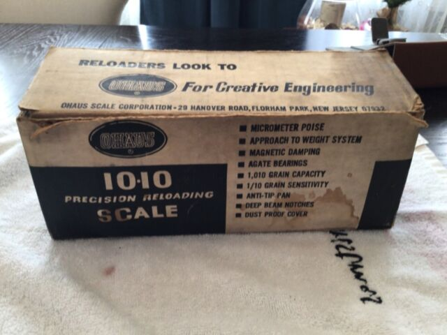 Ohaus 10 10 Reloading scale new old stock attic find