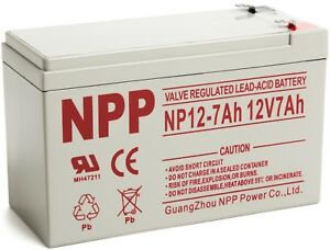 NPP 12V 7ah Rechargeable Lead Acid Battery For ES500 ES550 RBC110 EXP1270 /  F2