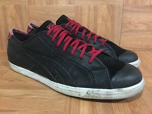 RARE-Asics-Onitsuka-Tiger-Coolidge-Lo-Half-Shell-Black-Leather-Retro-Shoes-12