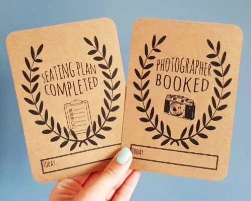 keepsake Wedding Milestone Cards Engagement present Scrapbooking