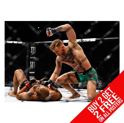 BUY 2 GET ANY 2 FREE CONOR MCGREGOR V ALDO KO UFC 194 POSTER ART PRINT A4 A3
