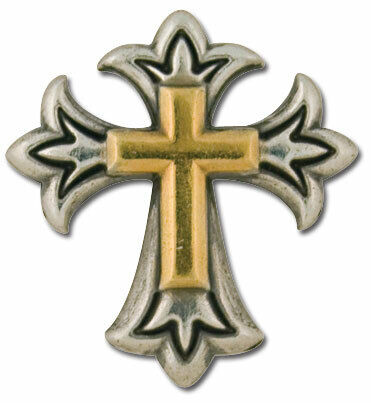 Tandy Leather Leathercraft Endearing Cross Concho #7796-10 Religious Ornament
