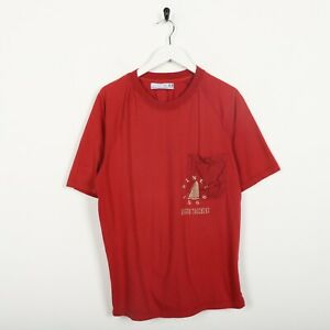 Vintage-SERGIO-TACCHINI-Big-Logo-T-Shirt-Tee-Red-Large-L