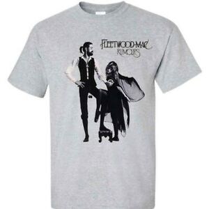 Fleetwood Mac Rumors White T-Shirt Vintage Gift For Men Women Funny Black Tee