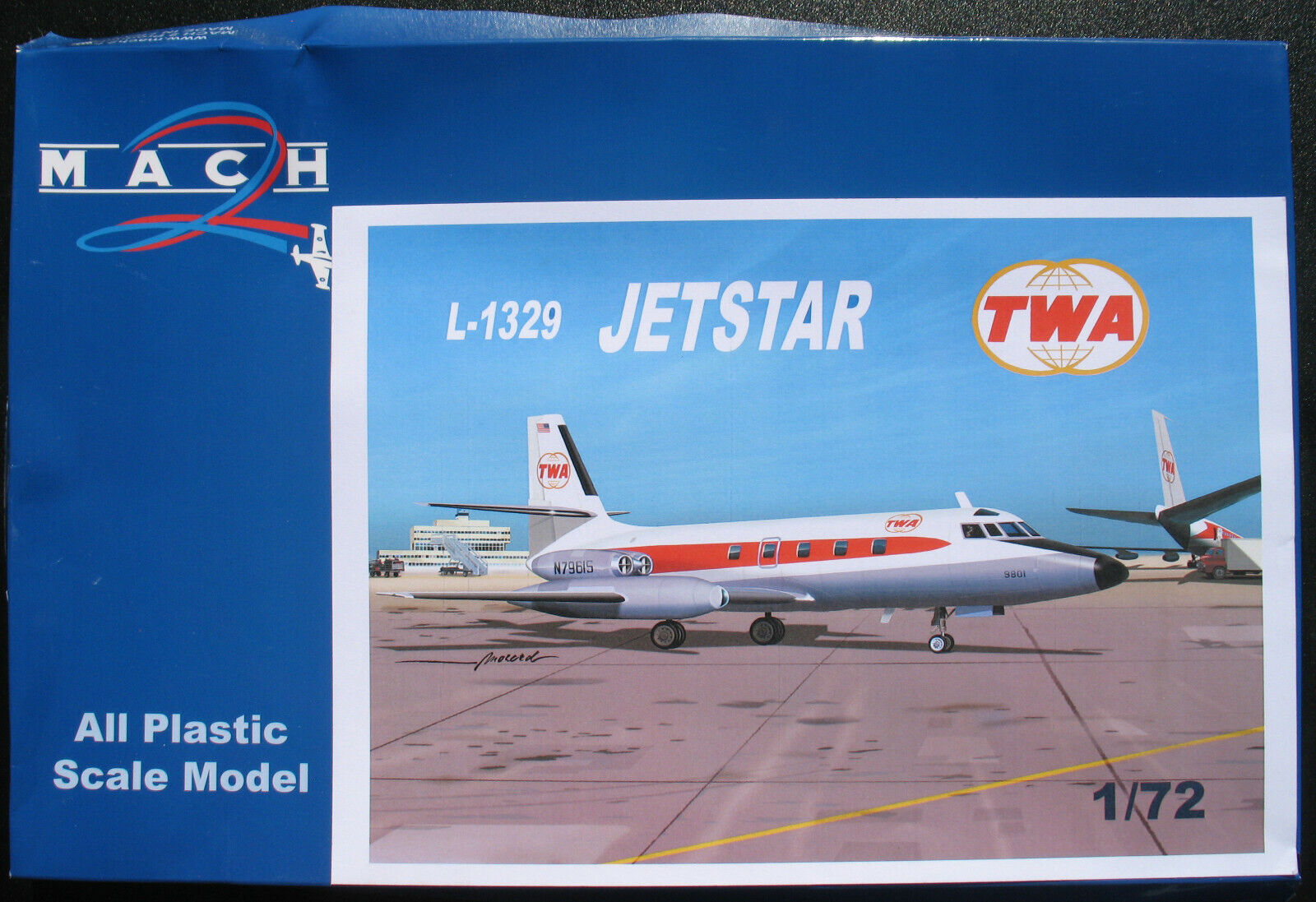 MACH 2 GP090 - JETSTAR L-1329 - TWA - 1 72 - Flugzeug Modelbausatz Model Kit