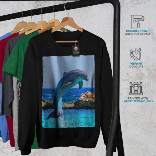 Wellcoda Dolphin Ocean Wild Womens Sweatshirt Smart Casual Pullover Jumper