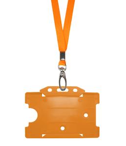 Arancione Id Collo laccio corda MOLLETTA CORDINO plastica carta badge targhetta