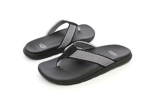 8e098d1601f UGG Tenoch Hyperweave Men's Flip Flops Thongs Black Size 8 US ...