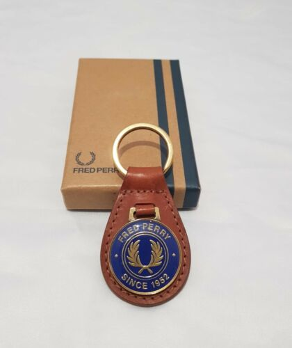 LAUREL RRP £30 SINCE 1952 Fred Perry Key Fob Classic Leather Key Ring Charm