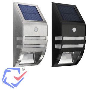 Aplique led jard n solar foco l mpara sensor movimiento pir exterior pared luz ebay - Focos led jardin ...
