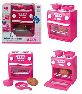 Girls Play At Home Electronic Real Oven Kitchen Play Set Light & Sound Toy Gift
