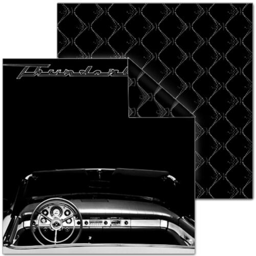 Scrapbooking Paper Ford TBIRD INTERIOR 12x12 Dbl-Sided 2PCS
