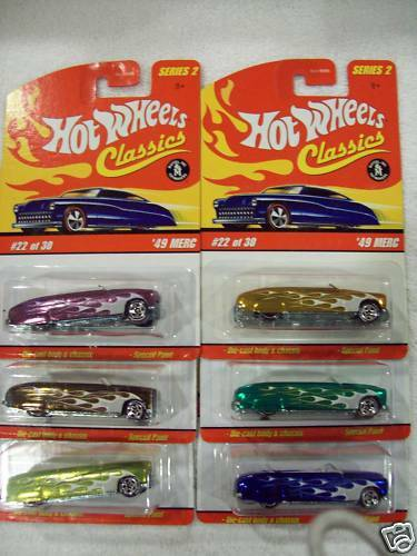 06 HW HW HW Classics Series 2 '49 Merc Congreenible 6 car set 94c9e3