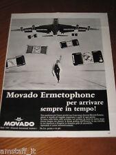 AC22=1968=MOVADO ERMETOPHONE OROLOGIO WATCH=PUBBLICITA'=ADVERTISING=WERBUNG=