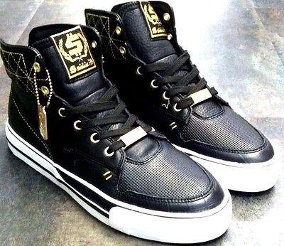 SHMACK Hatchet Crowbar Black Star Money $$$ Leather Athletic Sneakers Men 9.5