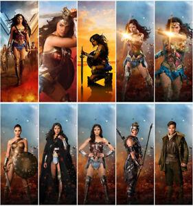 Image Is Loading 10pc Wonder Woman Movie 2017 PVC Transparent Bookmark