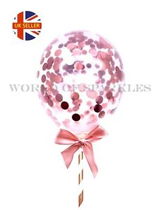 1PCS-MINI-ROSE-GOLD-BALLOON-CAKE-TOPPER-CONFETTI-WEDDING-PARTY-BIRTHDAY